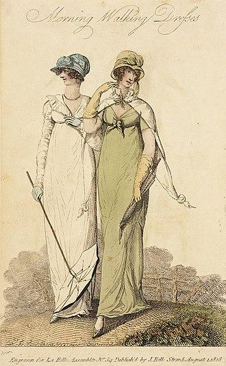 La Belle Assemblée - Image: Fashion Plate (Morning Walking Dresses) LACMA M.86.266.73