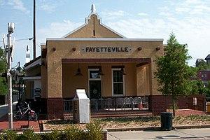 Frisco Depot - Image: Fayetteville Depot