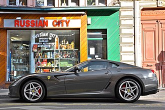 Ferrari 599 - The side profile of the 599