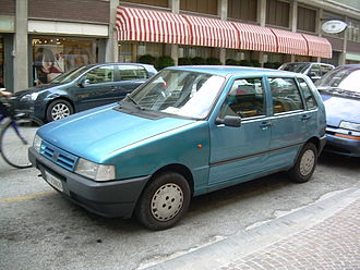 Automotive industry in Italy - Image: Fiat Uno blue