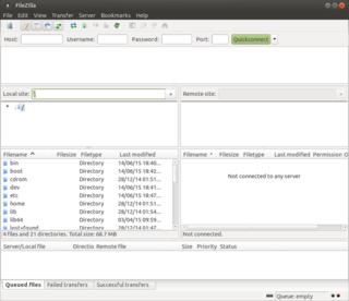 FileZilla Free software, cross-platform file transfer protocol application