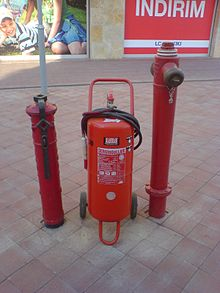 Fire hydrant and extinguisher in İzmir Turkey.jpg