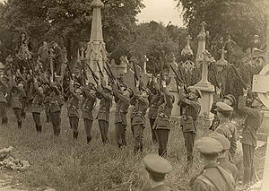Joseph McGuinness - Firing party at McGuinness's funeral in Glasnevin Cemetery.