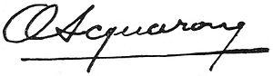 Orestes Acquarone - Image: Firma Orestes Acquerone 2