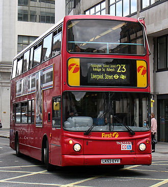London Buses route 23 - First London Alexander ALX400 bodied Dennis Trident 2 in May 2011