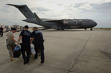 Royal canadian air force wikipedia a canadian cc 177 globemaster iii on the tarmac in new orleans louisiana assisting in the evacuation during hurricane gustav sciox Choice Image
