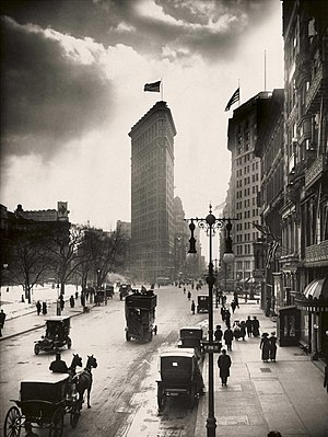 Madison Square near the Flatiron Building in New York City, circa 1918