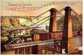 Flickr - …trialsanderrors - The only Route via Niagara Falls ^ Suspension Bridge, advertising poster, 1876.jpg