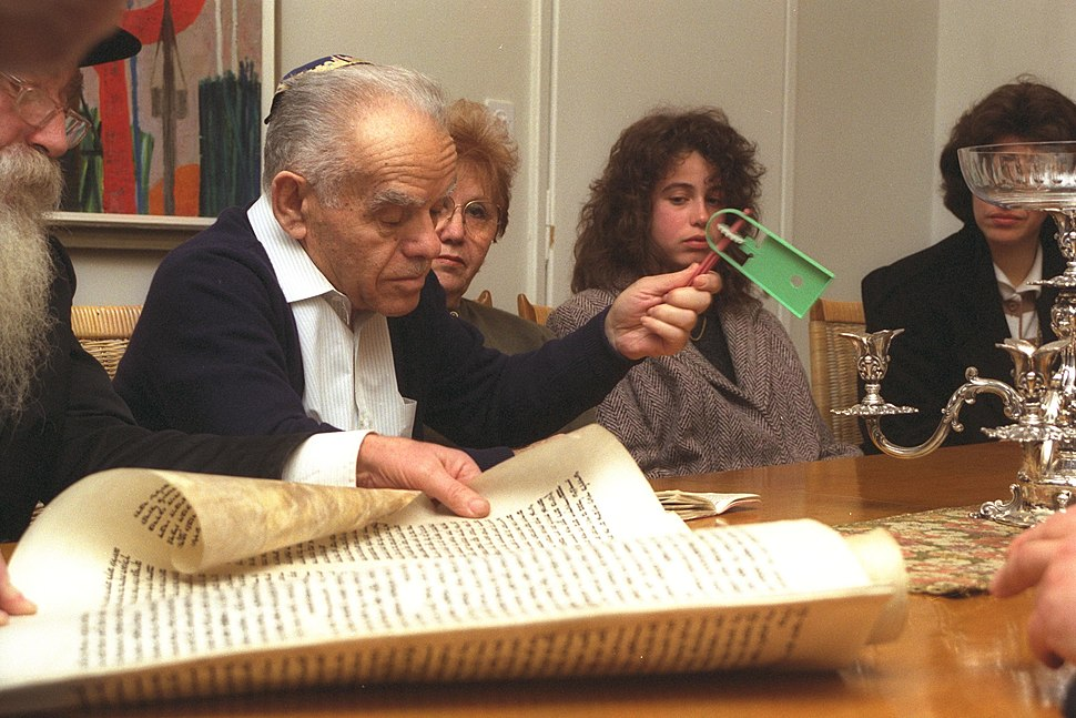 Flickr - Government Press Office (GPO) - P.M. YITZHAK SHAMIR WAVING A NOISEMAKER