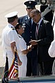 Flickr - Official U.S. Navy Imagery - President Barack Obama is greeted by the deputy commander of U.S. Fleet Forces Command..jpg