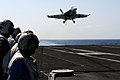 Flickr - Official U.S. Navy Imagery - Rear Adm. Robert Girrier observes flight ops aboard the USS Ronald Reagan.jpg