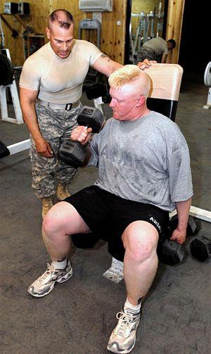 Sgt. 1st Class Luis R. Laluz supervises Sgt. J...
