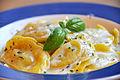 Flickr - cyclonebill - Ravioli med skinke og asparges i mascarponecreme.jpg