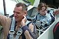 Flight instructor Matthias Heine and Nadine Czempisz, 11, shortly before first glider take-off in Hildesheim.jpg