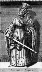 Historical representation of Florens III.  from 1578