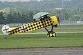 Fokker D.VIII Lt See Gotthard Sachsenberg Landing Taxi 02 Dawn Patrol NMUSAF 26Sept09 (14619990023).jpg