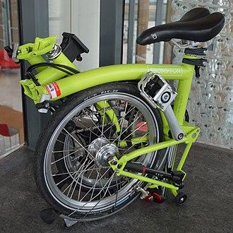 Brompton Bicycle - A folded Brompton