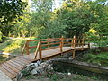 Footbridge. English Garden in Tata. Hungary.JPG
