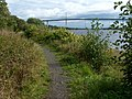 Footpath above the shore at Bowling - geograph.org.uk - 1481096.jpg