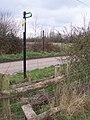 Footpath crosses Green Lane - geograph.org.uk - 1209091.jpg