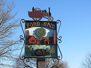 Ford End - Image: Ford End Village Sign