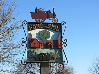 Ford End - Image: Ford End Village Sign
