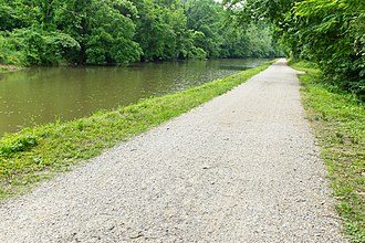 Patowmack Canal - The Little Falls canal was reused for the Chesapeake and Ohio Canal. Here is part of it.