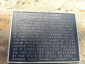 Fort Belknap (Texas) - Image: Fort Belknap Magazine Building