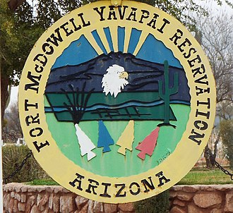 Fort McDowell Yavapai Nation - Image: Fort Mc Dowell Yavapai Nation Fort Mc Dowell Yavapai Reservation sign 1