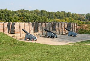 Siege of Fort Meigs - Artillery at Fort Meigs