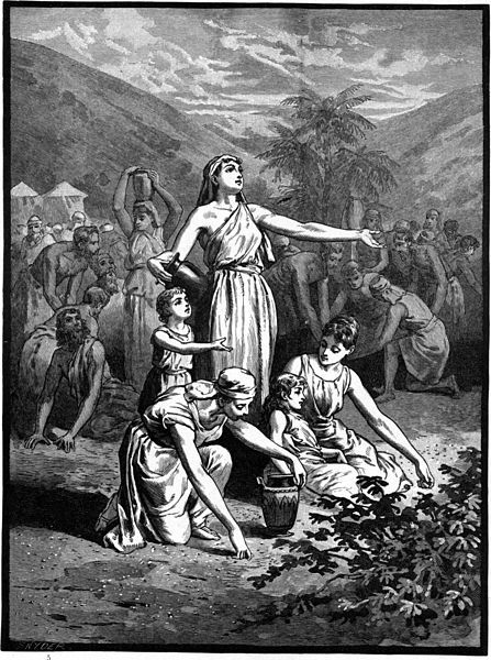 File:Foster Bible Pictures 0065-1 The Israelites Gather Manna in the Wilderness.jpg