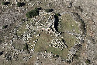 Giants grave Sardinian megalithic gallery grave by the Nuragic civilization