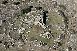 Giants' grave - Aerial view of the Giant's grave of Sa Domu 'e S'Orcu in Siddi.