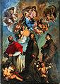 Fr Maffei Virgen con el Niño y los santos Carlos Borromeo, Bernardino de Siena y Antonio de Padua Oratorio del Carmine, Sarzana.jpg
