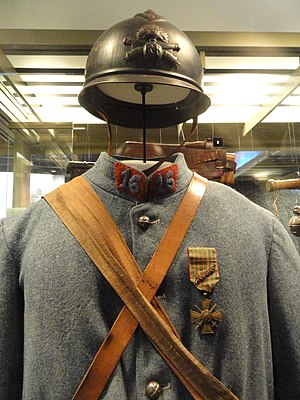 Gorget patches - France artilleryman's uniform, 1916