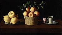 Plato con limones, cesta con naranjas y taza con una rosa, 1633 (60 x 107 cm.), Norton Simon Fundation, Los Ángeles