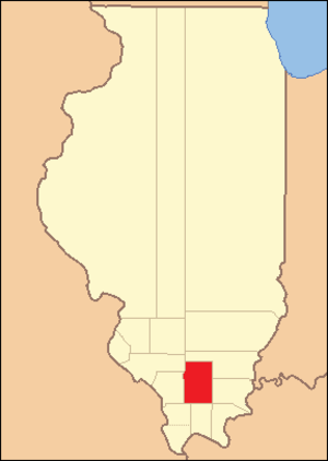 Franklin County, Illinois - Image: Franklin County Illinois 1818