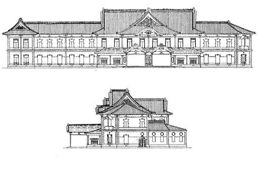 Franz Baltzer's Original Plan of Departure side of Tokyo station