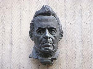 Svenska: Franz Berwald, skulptur av Carl Eldh,...