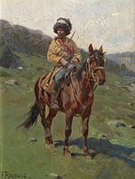 Franz Roubaud Tscherkessischer Reiter
