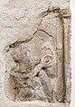 Frauenstein Obermühlbach 70 Pfarrkirche hl Georg W-Außenmauer Mänadendarstellung 21082017 0456.jpg