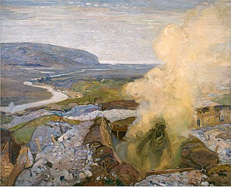 Group of Seven (artists) - Gas Chamber at Seaford, 1918, by Frederick Varley, Canadian War Museum, Ottawa