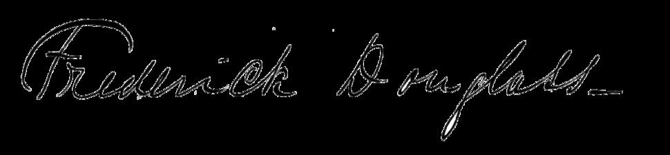 Frederick Douglass's signature