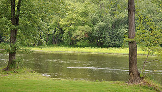 French Creek (Allegheny River tributary) - Near the mouth at Franklin