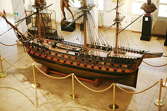 Blockade of Saint-Domingue - Scale model of the Duquesne, on display at the Musée de la Marine in Toulon