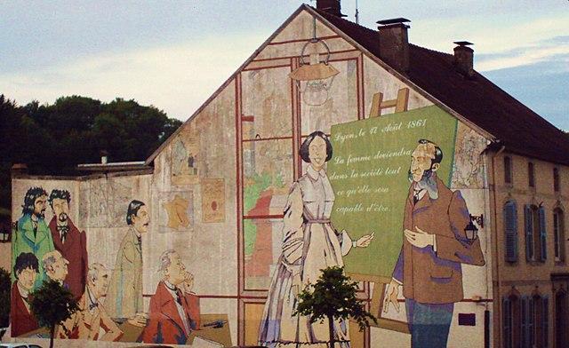 Fresque en hommage à Julie-Victoire Daubié