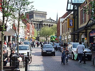 Friargate Preston on a busy weekday afternoon - geograph.org.uk - 1710831.jpg