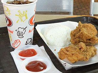 A&W Restaurants - Image: Fried chicken and rice 1