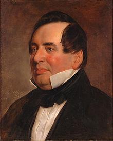Adam Gottlob Oehlenschläger (Gemälde von Friedrich von Amerling, 1844) (Quelle: Wikimedia)