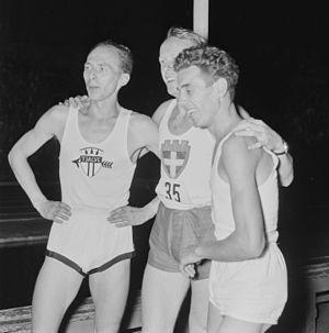 László Tábori - Audun Boysen, Gunnar Nielsen and László Tábori in Oslo, 1953